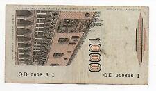 1000 LIRE MARCO POLO NUMERI BASSI 000816 DECRETO DATA 28/10/1985 SPL @ NATURALE