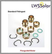 Solar Verschraubung, Fittingset DN16, Solarleitung