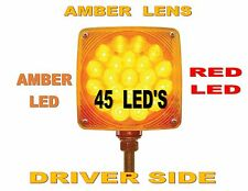 Double Face Turn Signal (45 LED ) Amber/Red  (L/H)   SEMI-TRUCK FENDER