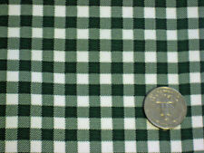 BOTTLE FOREST GREEN GINGHAM CHECK KITCHEN PATIO OILCLOTH VINYL TABLECLOTH 48x60