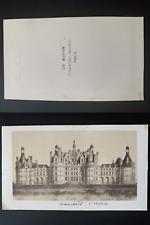 Charles Boivin, France, château de Chambord Vintage albumen print CDV.  Tirage