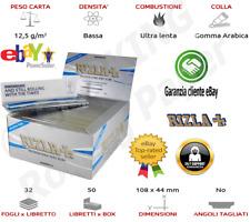 1 x BOX Cartine Rizla Micron King Size Slim Lunghe Sottile  Da 50 Libretti