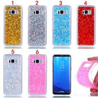 Glitter Gel Rubber Soft TPU Case Cover For Samsung A3 A5 A7 2017 J3 J5 2016 S8