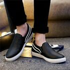 Fashion Men's Slip On Casual Shoes Leather Sneakers Loafers Driving Moccasins