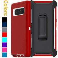 For Samsung Galaxy Note 8 Shockproof Hard Case Belt Clip Fits Otterbox Defender