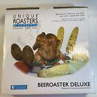 Beeroaster Deluxe Beer Can Roaster w Drip Pan Vegetable Spikes Recipe Guide, New