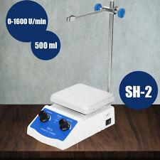 SH-2 Magnetrührer mit Heizung Heizplatte Thermostat Rührer 180W 0-1600 U / min