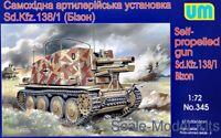 Unimodel 345 Sd.Kfz. 138/1 Bison German Self-Propelled Gun WW II 1/72 scale kit