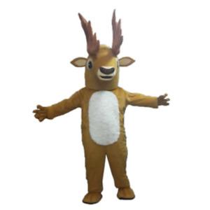 Cosplay Plush Deer Mascot Costume SuitsAdult Size Halloween Fancy Dress Party