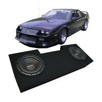 """82-92 Chevy Camaro Coupe Rockford Prime R1S412 Dual 12"""" Sub Box Package 2 Ohm"""