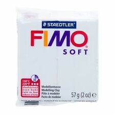 4x STAEDTLER FIMO Soft Polymer Modelling Clay Oven Bake 57g (228g) White 0