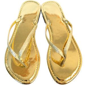 New Women's Glitter Casual Flat Summer Thong Flip Flop Sandal Beach Slipper