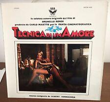 Albert Verrecchia – Tecnica Di Un Amore Lp 1973 NM Colonna Sonora 1° Stampa