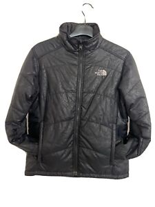 The North Face Youth Girls Med 11-12 Years Black Quilted Jacket