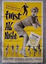Twist All Night ORIGINAL 1sh Poster - Rock-N-Roll JUNE WILKINSON Louis Prima 61