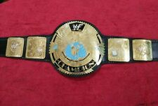 More details for world heavyweight champion scratch logo belt real leather plates replica