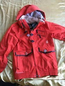 Women's Red Volcom Snowboard Jacket (Size M) Unique Buttons