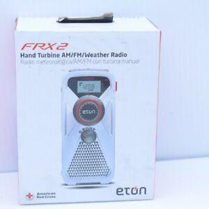 Eton FRX2 Hand Turbine AM/FM/NOAA Weather Radio With LED Flashlight ARCFRX2WXW