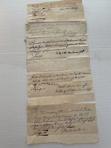 18th c. (5) receipts/documents John Van Alen