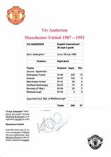VIV ANDERSON MANCHESTER UNITED 1987-1991 ORIGINAL HAND SIGNED CUTTING