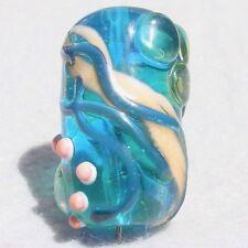 OUTRIGGER Handmade Art Glass Focal Bead Flaming Fools Lampwork Art Glass SRA