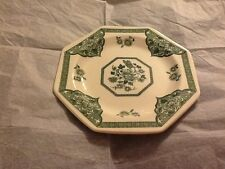 """More details for 7"""" j & g meakin old pekin ironstone england plate green & white"""
