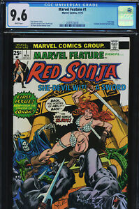 MARVEL FEATURE #1 - CGC-9.6, WP - 1st Red Sonja solo comic