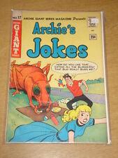 ARCHIE'S JOKES #17 VG+ (4.5) ARCHIE GIANT SERIES COMICS AUGUST 1962
