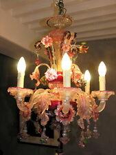 Très beau lustre murano en parfait état et entièrement révisé , 6 branches