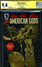 SS CGC AMERICAN GODS 1 SIGNED RICKY WHITTLE MICHAEL GREEN MCKEAN VARIANT COVER