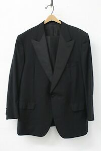 SULKA Men's 2 Piece Black 1-Button Tuxedo Size 56 R