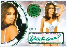 "BROOKE MORALES ""GREEN AUTOGRAPH CARD #08/11"" BENCHWARMER VEGAS BABY 2014"