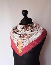 Herme Paris Silk Scarf Cadre Noir by Colonel G. Margot Rare Vintage Authentic