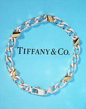 Tiffany & Co Sterling Silver 18K 18Ct Gold Link Bracelet