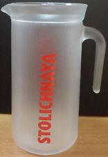STOLICHNAYA VODKA GLASS PITCHER