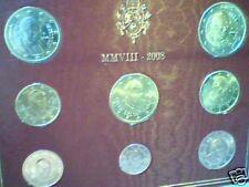 BU VATICAN 2008 8 vraies pièces EURO benoit XVIVaticano