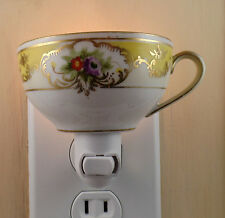 Noritake Vintage Floral Pattern Custom Made Tea Cup Night Light With Handle : custom made dinnerware - pezcame.com