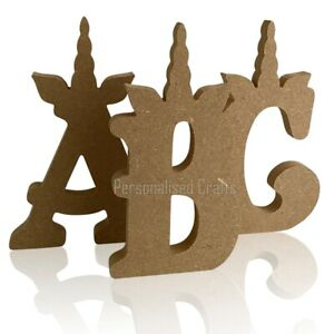 Personalised Freestanding Unicorn Letters & Numbers MDF Wooden Crafts Blanks