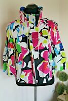 Cache Vibrant Women's Balloon Sleeve Jacket Floral size M Cotton Blend
