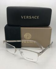 43135f9d858f New VERSACE Rx-able Eyeglasses VE 1241 1000 54-18 145 Semi Rimless Silver