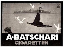 1916 batschari wk1 U-Boot Gem. Carl suggerimenti 26x18 cm ORIGINALE pubblicità a mezzo stampa