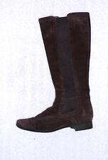 UNISA bottes plates à enfiler cuir daim marron P 37 TBE