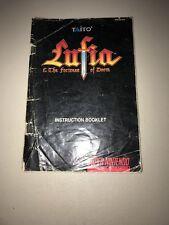 Lufia & The Fortress of Doom Super Nintendo SNES Instruction Manual Booklet