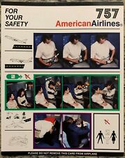American Airlines Boeing 757 Safety Card - 6/98