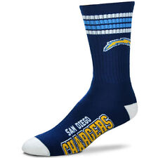 San Diego Chargers Football NFL Licensed Quarter Crew Length Socks-BNWTs