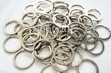 100pcs Silver Keyring Metal Key Holder Split Rings 30mm