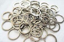 100pcs Silver Keyring Metal Key Holder Split Rings 30mm