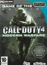 Call of Duty 4 Modern Warfare Game of the Year GOTY PC Game New Sealed Official