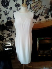 Élégant Femme Marks & Spencer hiver robe blanche taille 12 EUR 40 neuf RRP £ 39.50