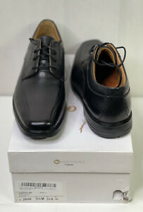 Clarks Men's 10.5 M Unstructured Unkenneth Way Black Leather Oxfords Dress Shoes